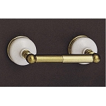 Sacramento Porcelain & Brass Toilet Paper Holder