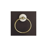Sacramento Porcelain & Brass Towel Ring