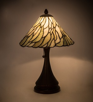 "18""H Willow Jadestone Table Lamp------------(NEED TO FIX)"