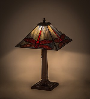 "21""H Prairie Dragonfly Table Lamp"