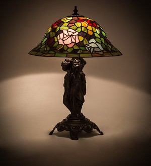 "21.5""H Rosebush Table Lamp------------(NEED TO FIX)"