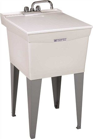 18-Gallon Floor-Mount Combo Laundry / Utility Sink with Faucet
