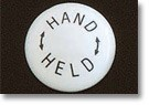 Volume Control Handle Porcelain Button - HAND HELD text