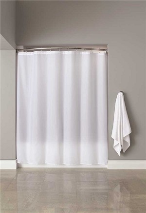 6 ft. x 6 ft. White Nylon Shower Curtain