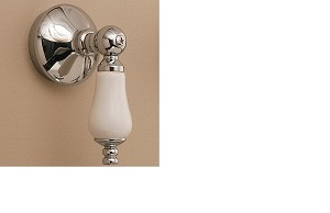 Thermostatic Volume Control Valve with Traditional Escutcheon and Porcelain Lever handle