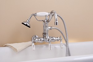 Wall Mount Faucet with Handheld Shower