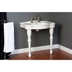 Console Sink with Legs - 8 Inch Faucet Drillings